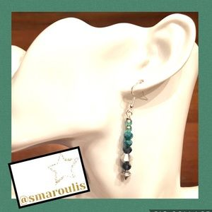 Frontrow.style Jewelry - 🇺🇸Sterling Silver Earrings Wasabi Green/Silver